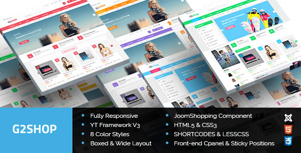 Download G2Shop - Responsive Ecommerce Joomla Template Yellow Joomla Templates