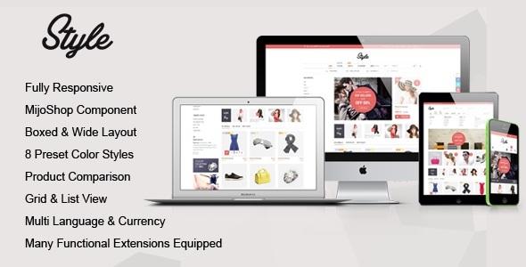 Download Style - Responsive Multipurpose MijoShop Template Red Joomla Templates