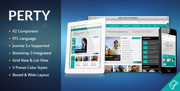 Download Perty - Responsive News/Magazine Joomla Template Magazine Joomla Templates