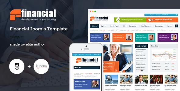 Download Financial - Responsive Joomla News Template Portal Joomla Templates