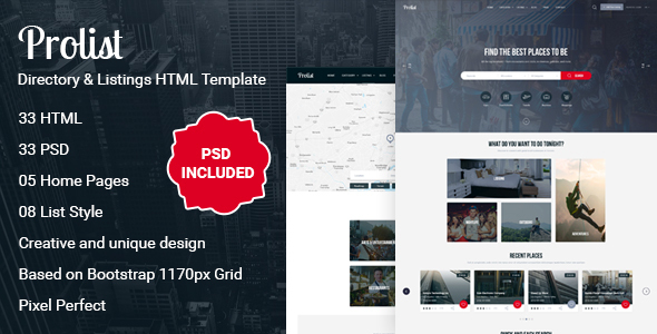 Download Prolist - Directory & Listings HTML Template Directory Html Templates