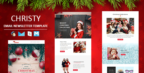 Download Christy - Responsive Email Template with Stampready Builder Access Black Html Templates