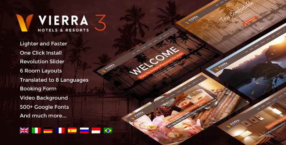 Download Hotel Wordpress Theme | Vierra Hotel WordPress Themes