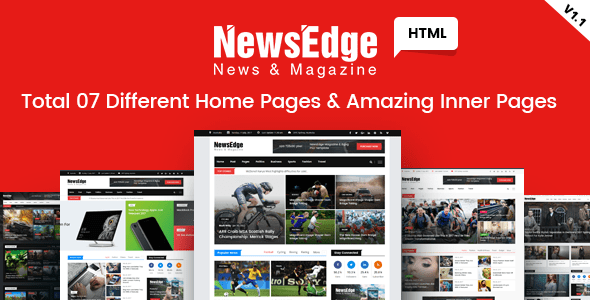 Download NewsEdge - News & Magazine HTML Template Magazine Html Templates