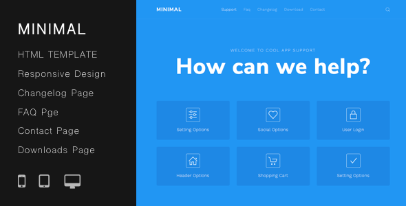 Download Minimal Helpdesk | Customer Support HTML Template Simple Html Templates
