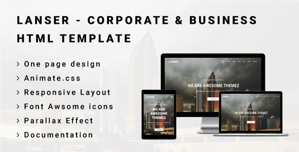 Download LANSER - Corporate & Business HTML Template Business Html Templates