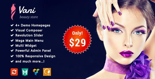 Download Vani - Beauty Responsive WooCommerce WordPress Theme Woocommerce WordPress Themes