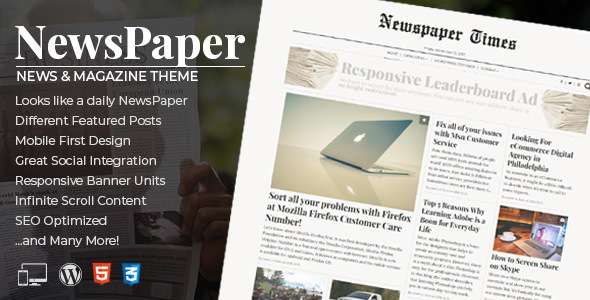 Download NewsPaper - News & Magazine WordPress Theme Newspaper WordPress Themes