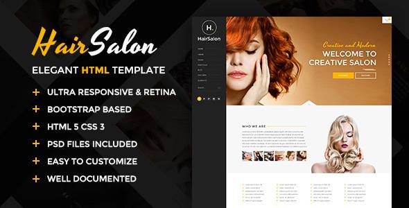 Download Hair Salon - Elegant HTML Template Elegant Html Templates