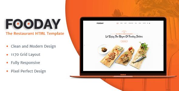 Download Fooday -  Restaurant HTML Template Restaurant Html Templates