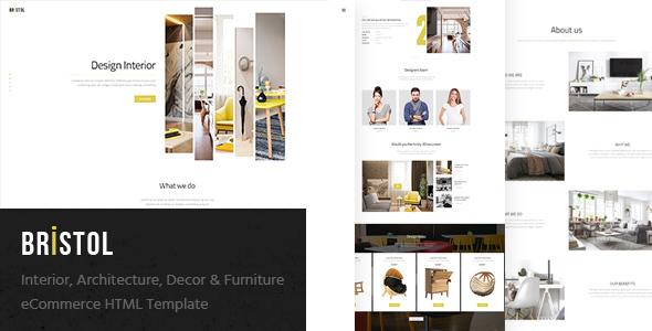 Download Bristol - Interior / Architecture / Decor & Furniture eCommerce HTML Template Furniture Html Templates
