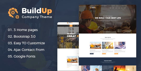 Download Buildup - Construction Building Company HTML Template Company Html Templates