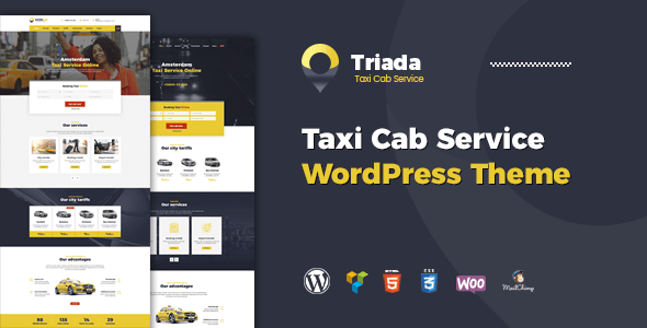 Download Triada - Taxi Service Company WordPress Theme Company WordPress Themes
