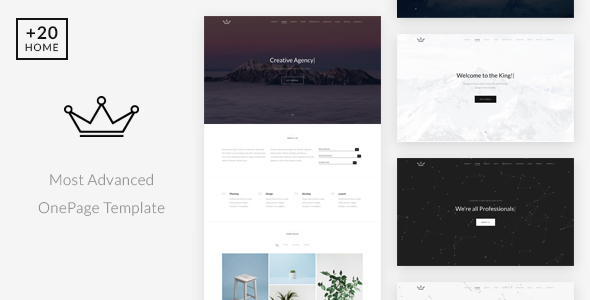 Download King - Creative Portfolio / Agency Onepage Template Fast Blogger Templates