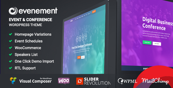 Download Evenement - Event & Conference WordPress Theme Youtube WordPress Themes