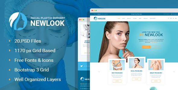 Download NewLook - Plastic Surgery Clinic PSD Template Hospital Joomla Templates