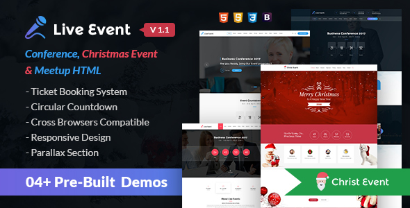 Download Live Event - Conference, Event & Meetup HTML Template Amp Html Templates