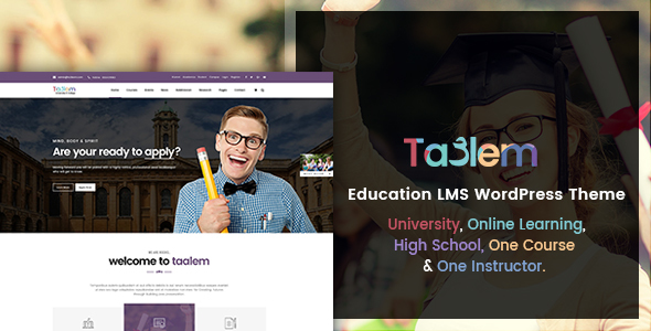 Download Taalem – Education LMS WordPress Theme University WordPress Themes