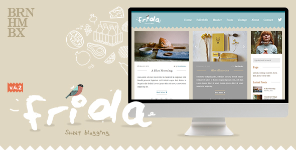 Download Frida - A Sweet & Classic Blog Theme 3 Column WordPress Themes