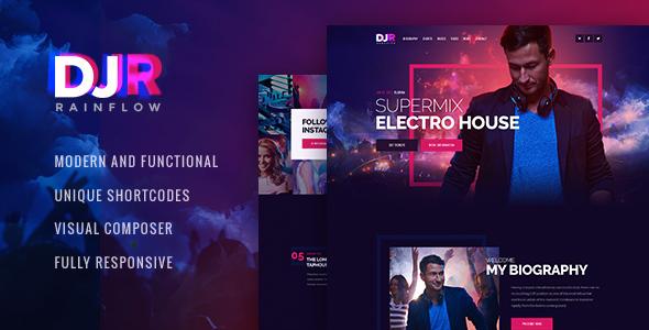 Download DJ Rainflow | Music Band & Musician WP Theme Radio WordPress Themes