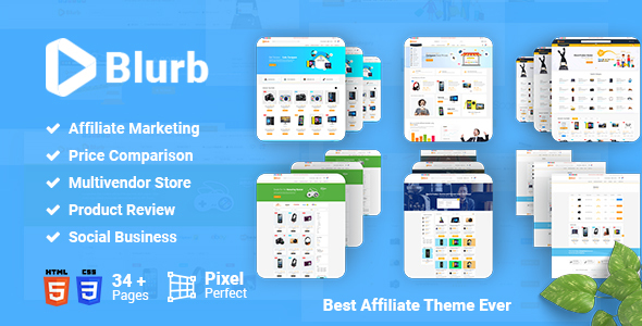 Download Blurb - Price Comparison, Affiliate Website, Multivendor Store and Product Review HTML5 Template Amazon Html Templates