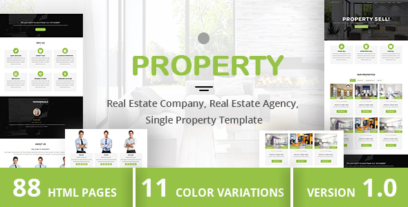 Download PROPERTY - Real Estate Company, Real Estate Agency, Single Property Template Yellow Html Templates