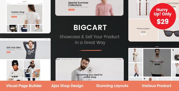 Download Bigcart - Clean, Modern WordPress Theme for WooCommerce Clean WordPress Themes
