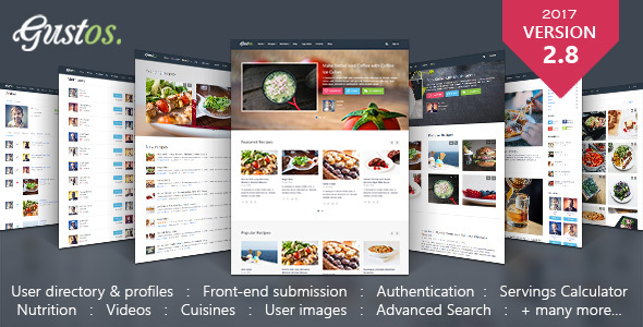 Download Gustos - Community - Driven Recipes, WordPress Theme Recipe WordPress Themes