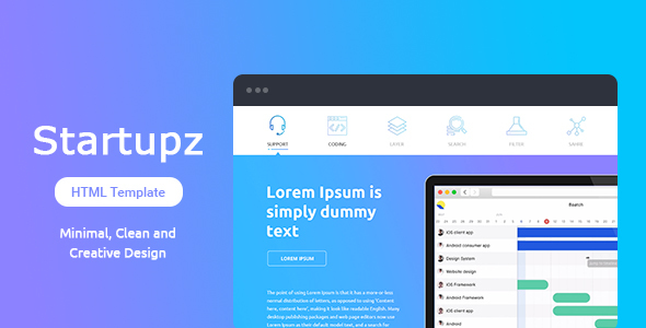Download Startupz - Single Page HTML Template Game Html Templates
