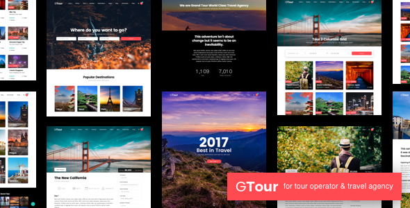 Download Grand Tour   Tour Travel WordPress Travel Blogger Templates