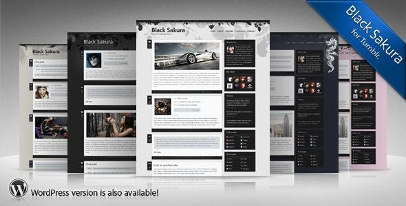 Download Sakura t. Black WordPress Themes