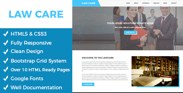 Download Lawcare – Lawyers Html Template Amp Html Templates