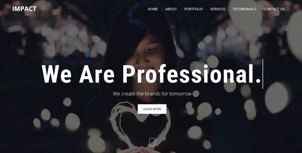 Download Impact - One Page Parallax Template Onepage Blogger Templates