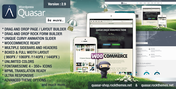 Download Quasar - Wordpress Theme with Animation Builder Fast WordPress Themes