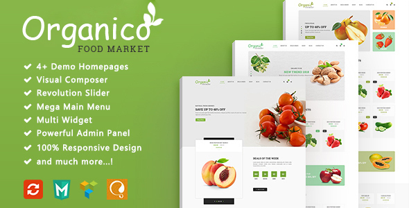 Download Organico - Fresh Fruits Responsive WooCommerce WordPress Theme Woocommerce WordPress Themes