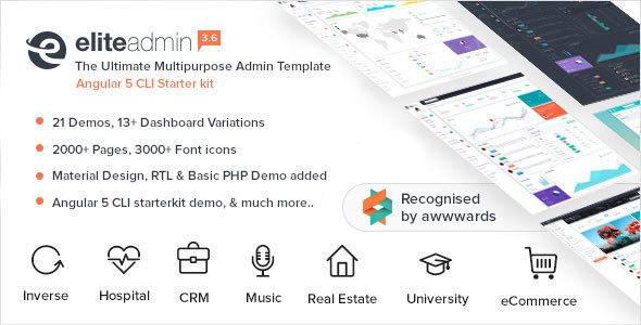 Download Elite Admin - Multipurpose Bootstrap 4  Admin Template University Html Templates