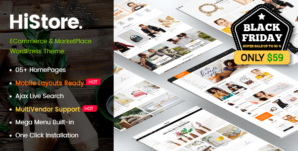 Download HiStore - Clean Fashion, Furniture eCommerce & MarketPlace WordPress Theme (Mobile Layouts Included) Furniture WordPress Themes