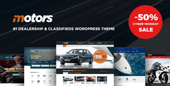 Download Motors ­- Automotive, Car Dealership, Vehicle, Boat, Bikes, Classified Listing WordPress Theme Automotive WordPress Themes