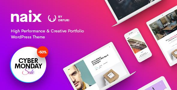 Download Naix - Creative & High Performance Portfolio WordPress Theme 2 Column WordPress Themes