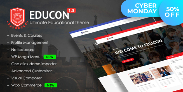 Download Educon - Education WordPress Theme Education WordPress Themes