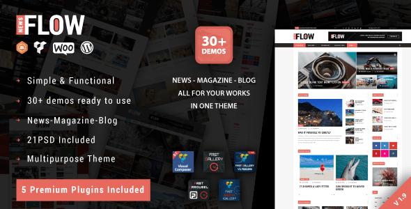 Download Flow News - Magazine and Blog WordPress Theme Black WordPress Themes