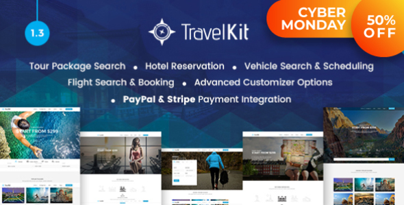 Download Travelkit - The Full-fledged Tour & Travel WordPress Theme Travel WordPress Themes