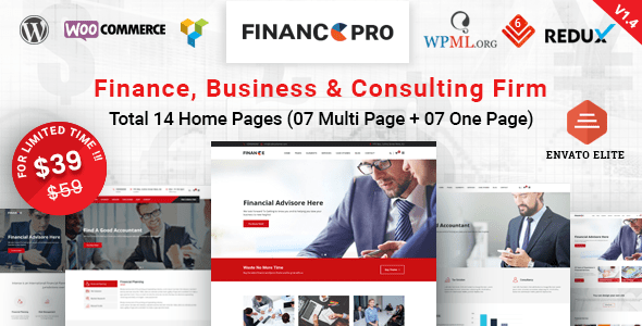 Download Finance Pro - Finance Business & Consulting WordPress Theme Amp WordPress Themes