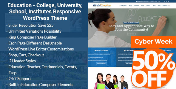 Download Education WordPress Theme - Education WP University WordPress Themes