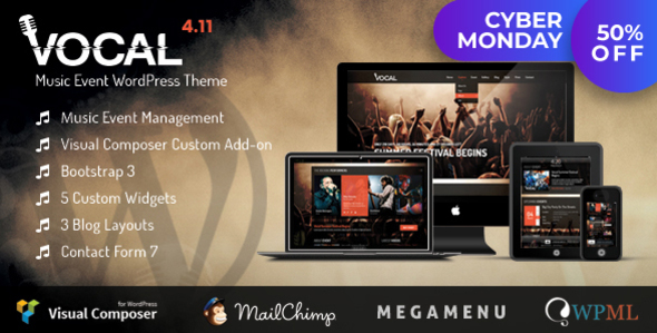 Download Vocal - Music Event WordPress Theme Event WordPress Themes