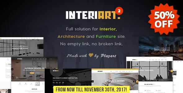 Download InteriArt - Furniture & Interior WordPress Theme Furniture WordPress Themes