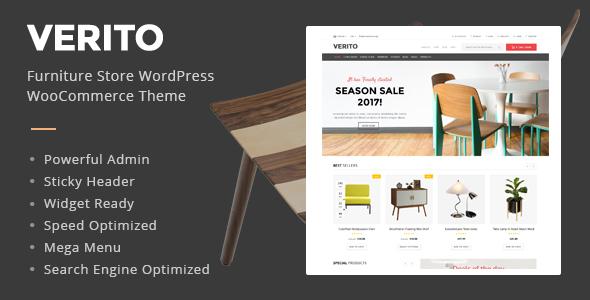 Download Verito - Furniture Store WooCommerce WordPress Theme Furniture WordPress Themes