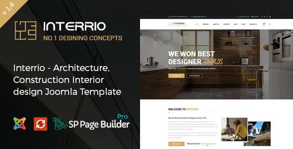 Download Interrio - Architecture & Interior design Joomla Template Amp Joomla Templates