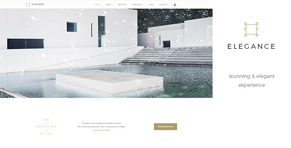 Download Elegance One Page - Parallax RTL Black & White Template Black Html Templates
