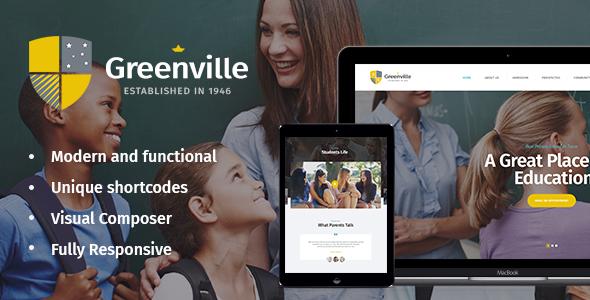 Download Greenville | Private School WordPress Theme School WordPress Themes